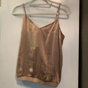 New CAMI NYC silk tank top elastic Camisole